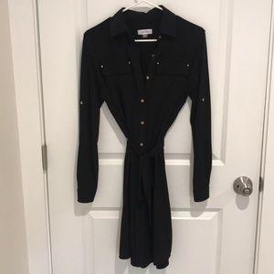Black Calvin Klein Shirt Dress - 4